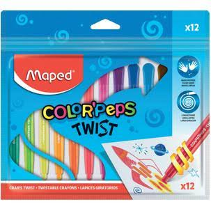Maped Color'peps Twist Crayons - 12ct