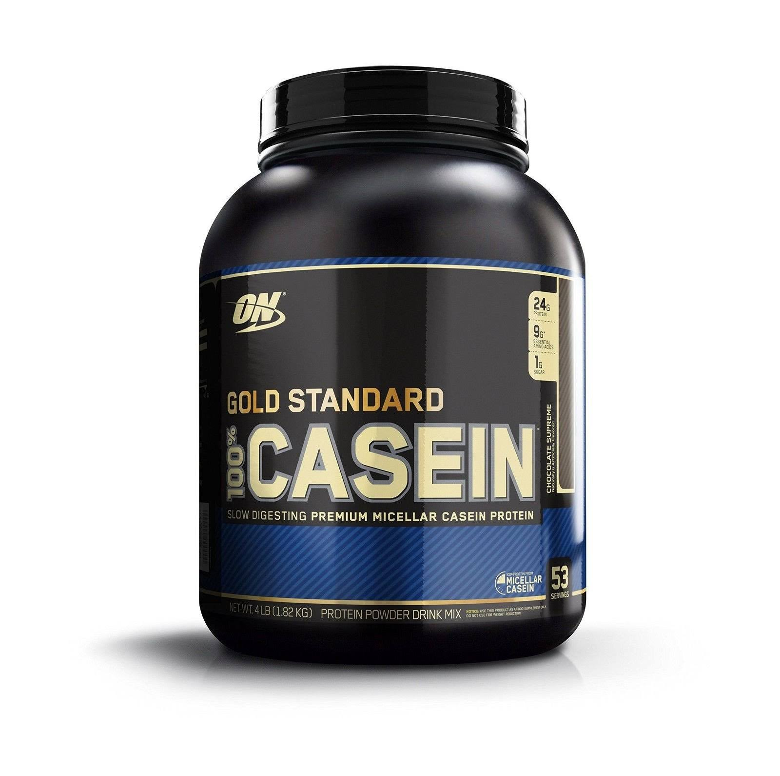 Optimum Nutrition 100 Percent Casein Protein Powder - Chocolate Supreme, 4lbs