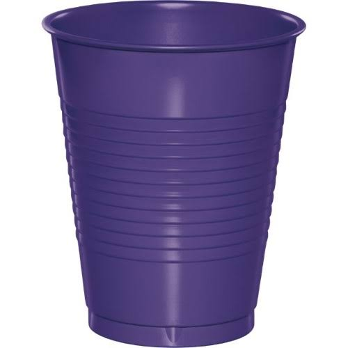 Creative Converting Touch of Color Plastic Cups - 16oz, Purple, 20ct