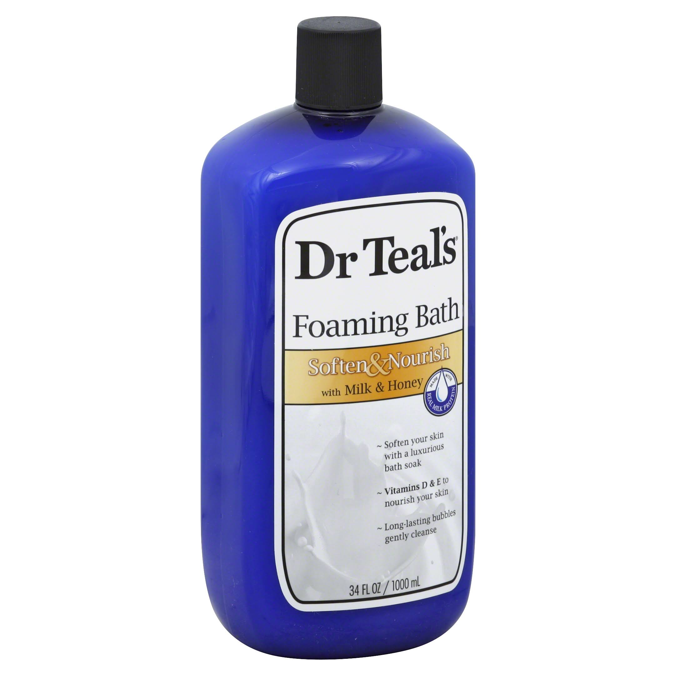 Dr Teal's Foaming Bath - Milk & Honey, 1000ml