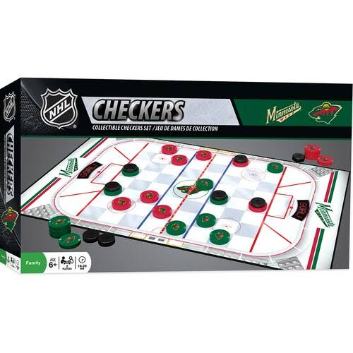 Masterpieces Checkers Board Game - Minnesota Wild