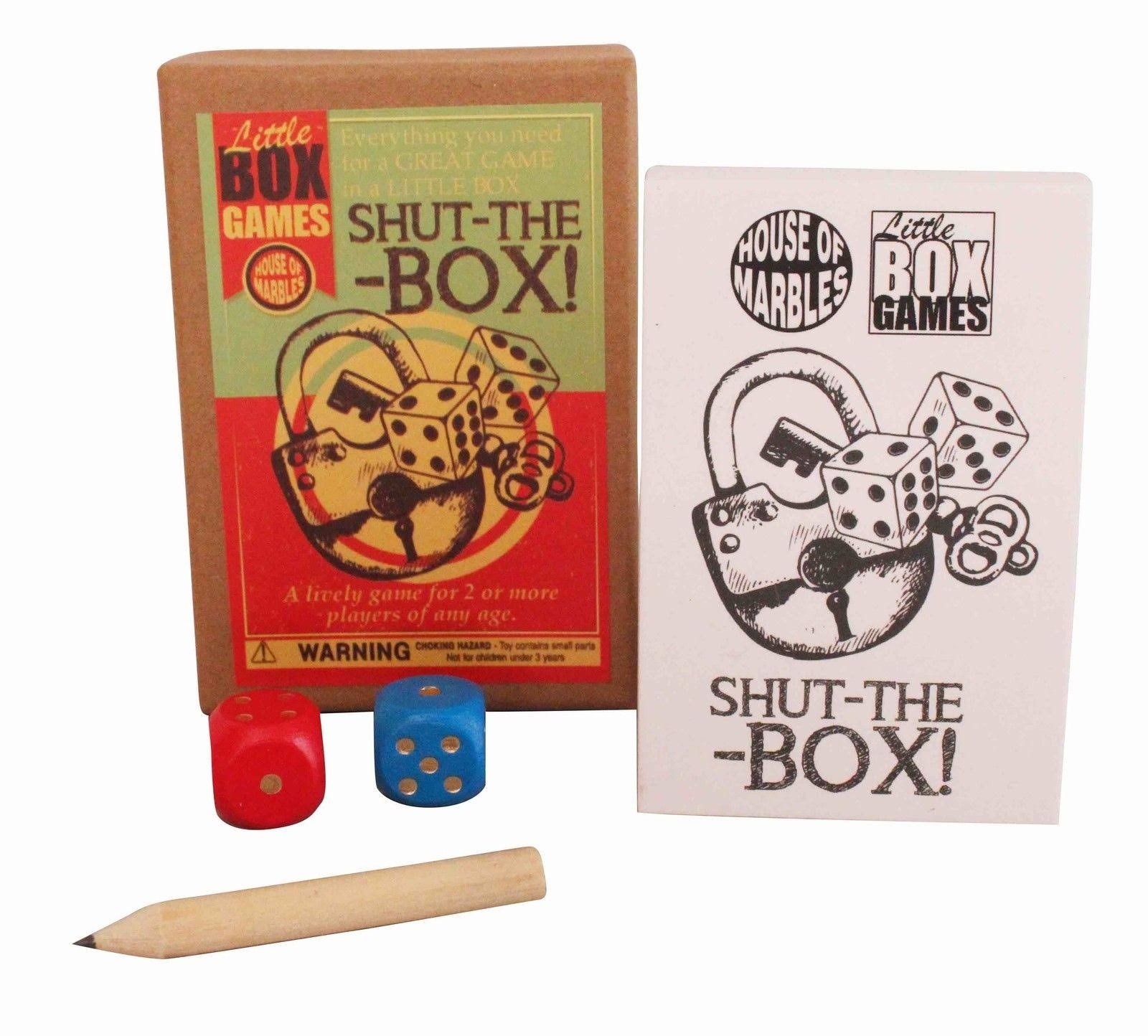 House of Marbles Shut-the-box Game Retro Vintage Toy