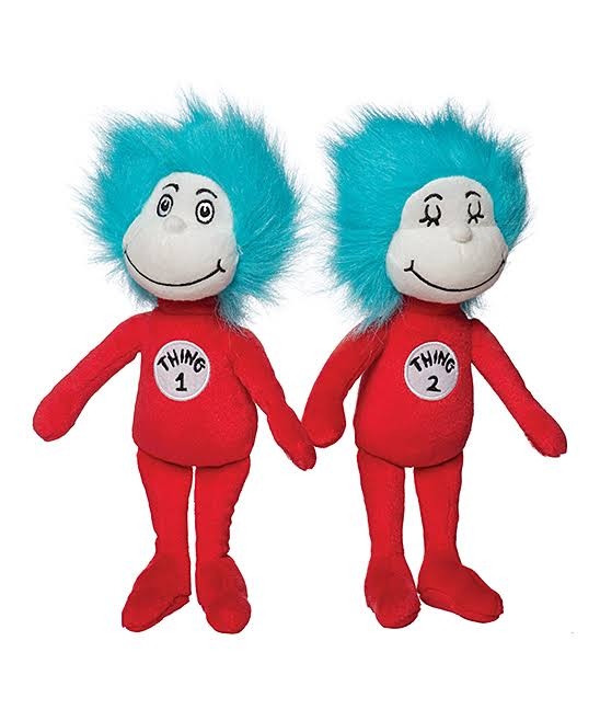 Manhattan Toy Dr. Seuss Thing 1 Thing 2 Plush Toy Set
