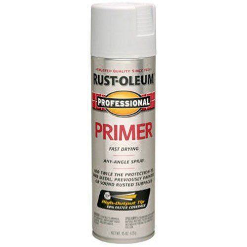 Rust Oleum 7582838 Professional Flat Primer Spray Paint - Gray, 15oz