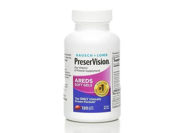 Bausch & Lomb PreserVision Eye Vitamin & Mineral Supplement - 120 ct