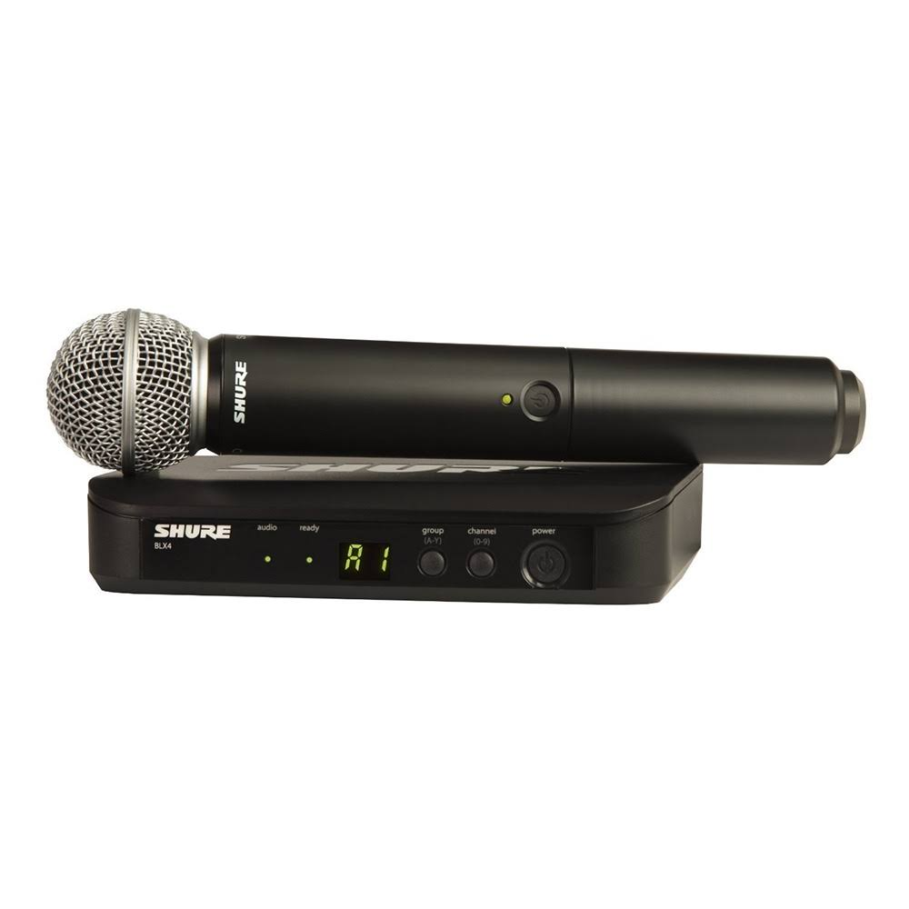 Shure BLX24 / SM58-H9 Wireless Vocal System with SM58 Handheld Microphone - H9