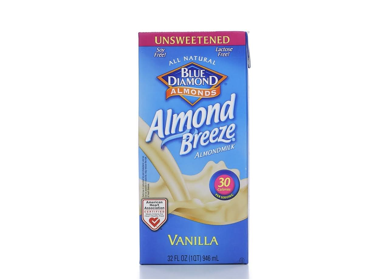 Blue Diamond Almond Breeze Almondmilk, Vanilla, Unsweetened - 32 fl oz