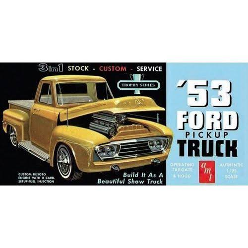 AMT 1953 Ford Pickup Truck 2 in 1 Customizing Model Kit - 1:25 Scale