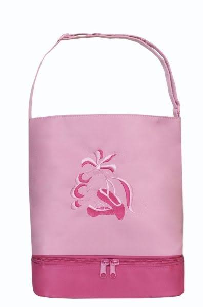 Sassi Designs Bottom Shoe Compartment Ballet Tote Bag - Pink