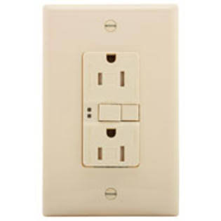 Eaton GFCI Tamper Resistant Duplex Receptacle Wallplate - Light Almond