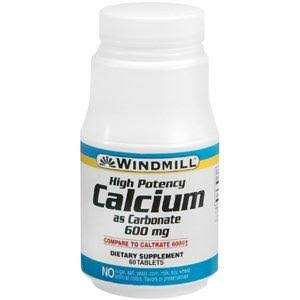 Windmill Calcium Carbonate - 600mg, 60 tablets