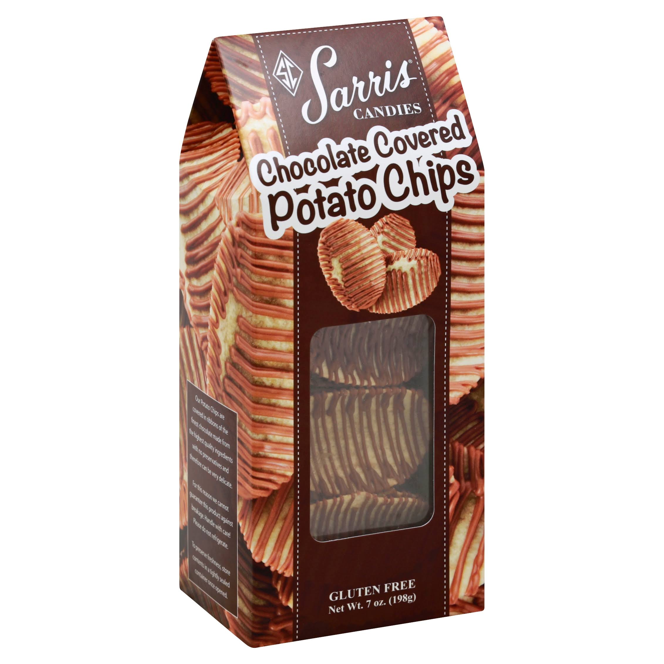 Sarris Candies Potato Chips, Chocolate Covered - 7 oz