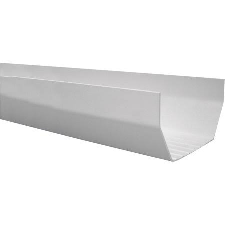 "Genova Products Raingo Vinyl Gutter - 4 1/2"" x 120"", White"