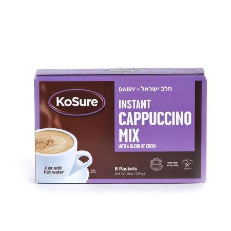 KoSure Instant Cappuccino Mix - 8 pack, 8 oz box
