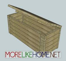 Build Outdoor Storage Bench by More Like Home Day 17 Build An Outdoor Storage Bench