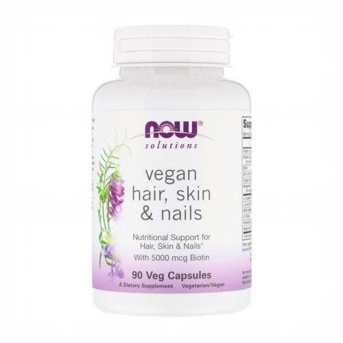 Now Foods Solutions Vegan Hair Skin and Nails Vegetables Capsules - 90ct