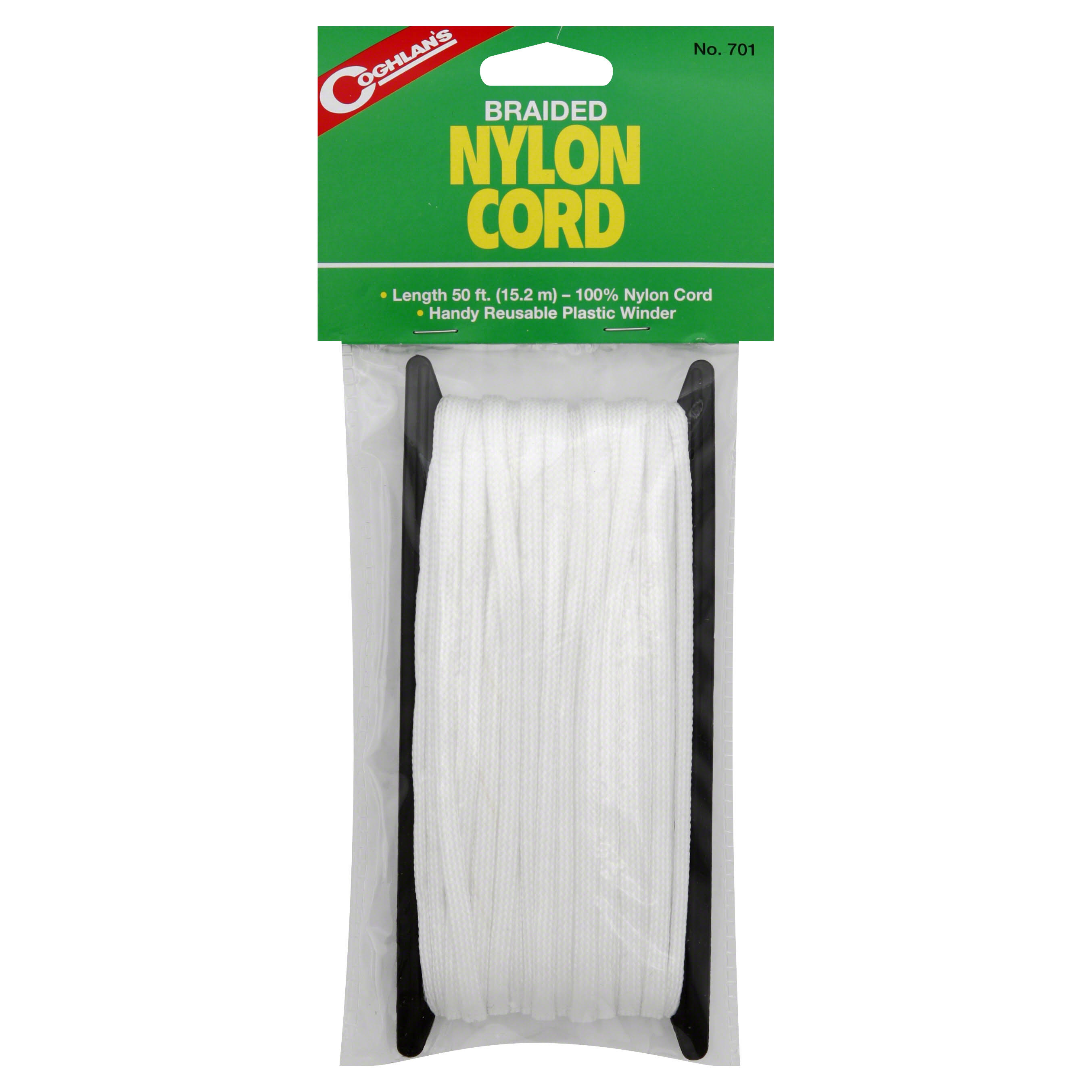 Coghlan's Braided Nylon Poly Cord - 50-Feet, White