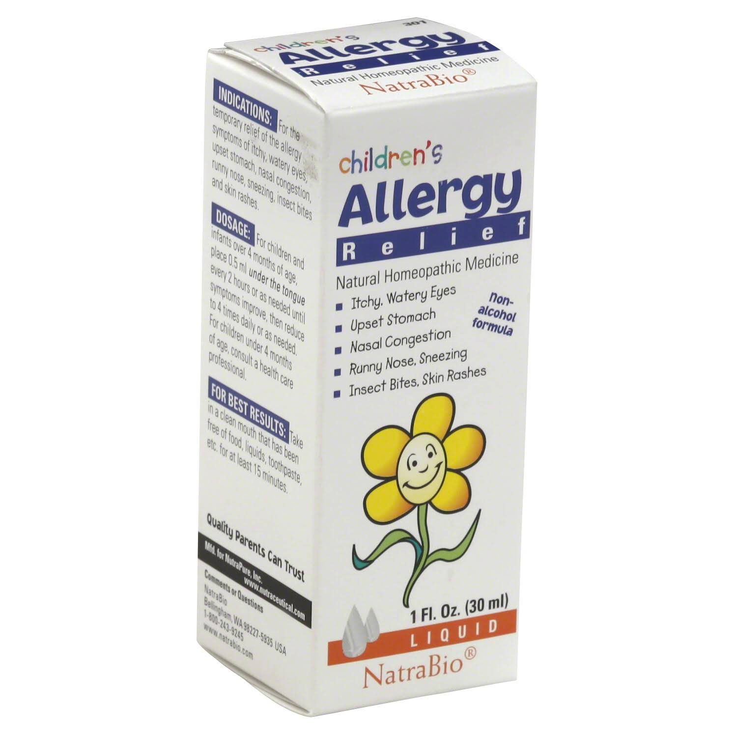 Natrabio Children's Allergy Relief Liquid - 1oz