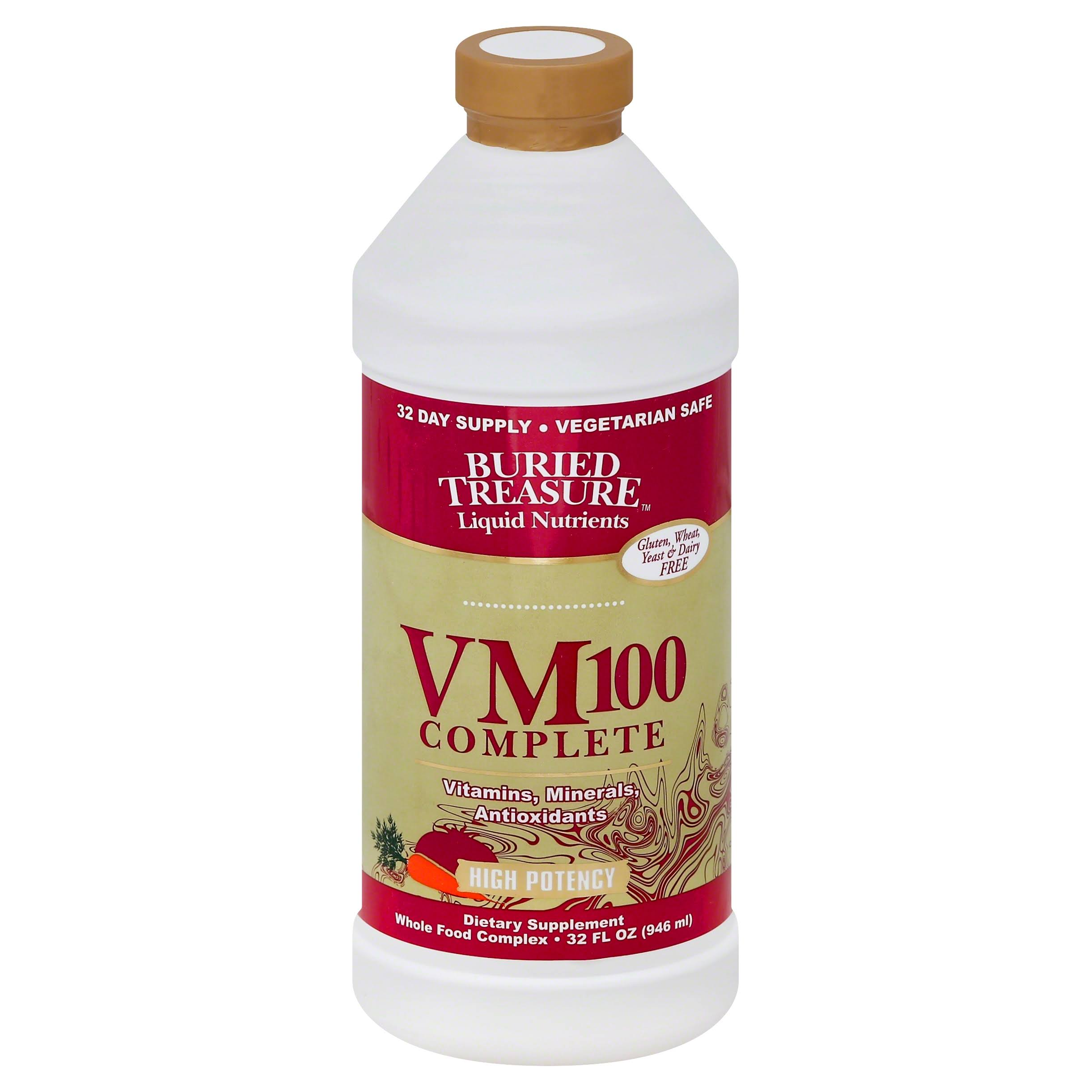 Buried Treasure VM-100 Complete Multivitamin Liquid - 32 fl oz bottle