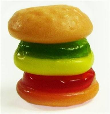 Gummi Mini Burger Gummy Candy