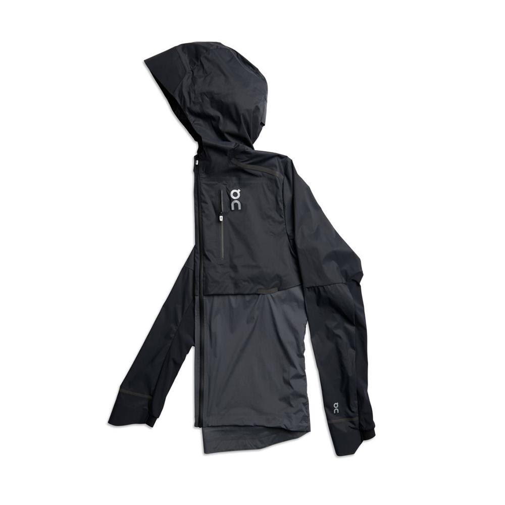 On Running Mens Weather Jacket - Black Shadow