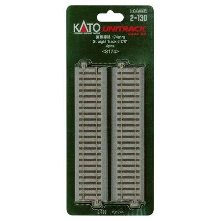 Kato Straight Track - 4pcs, 174mm