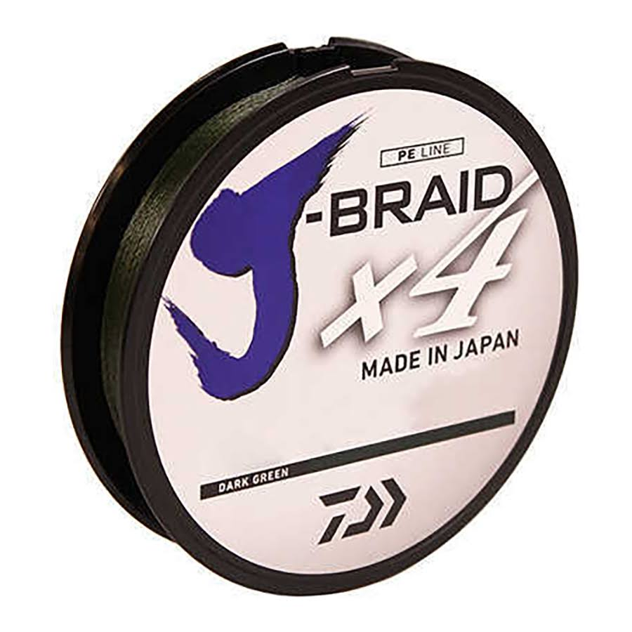 Daiwa J-braid X4 Braided Line - Dark Green