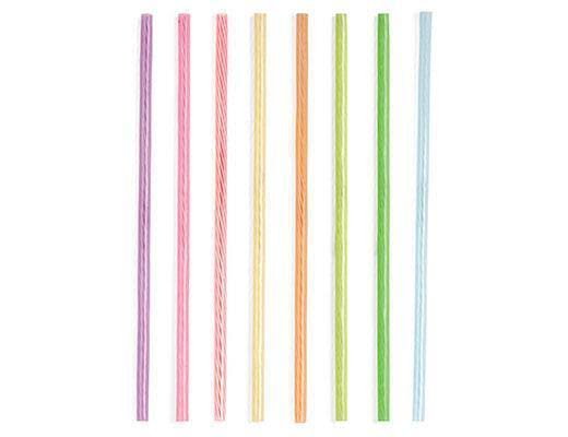 Kikkerland Set of 24 Reusable Rainbow Straws