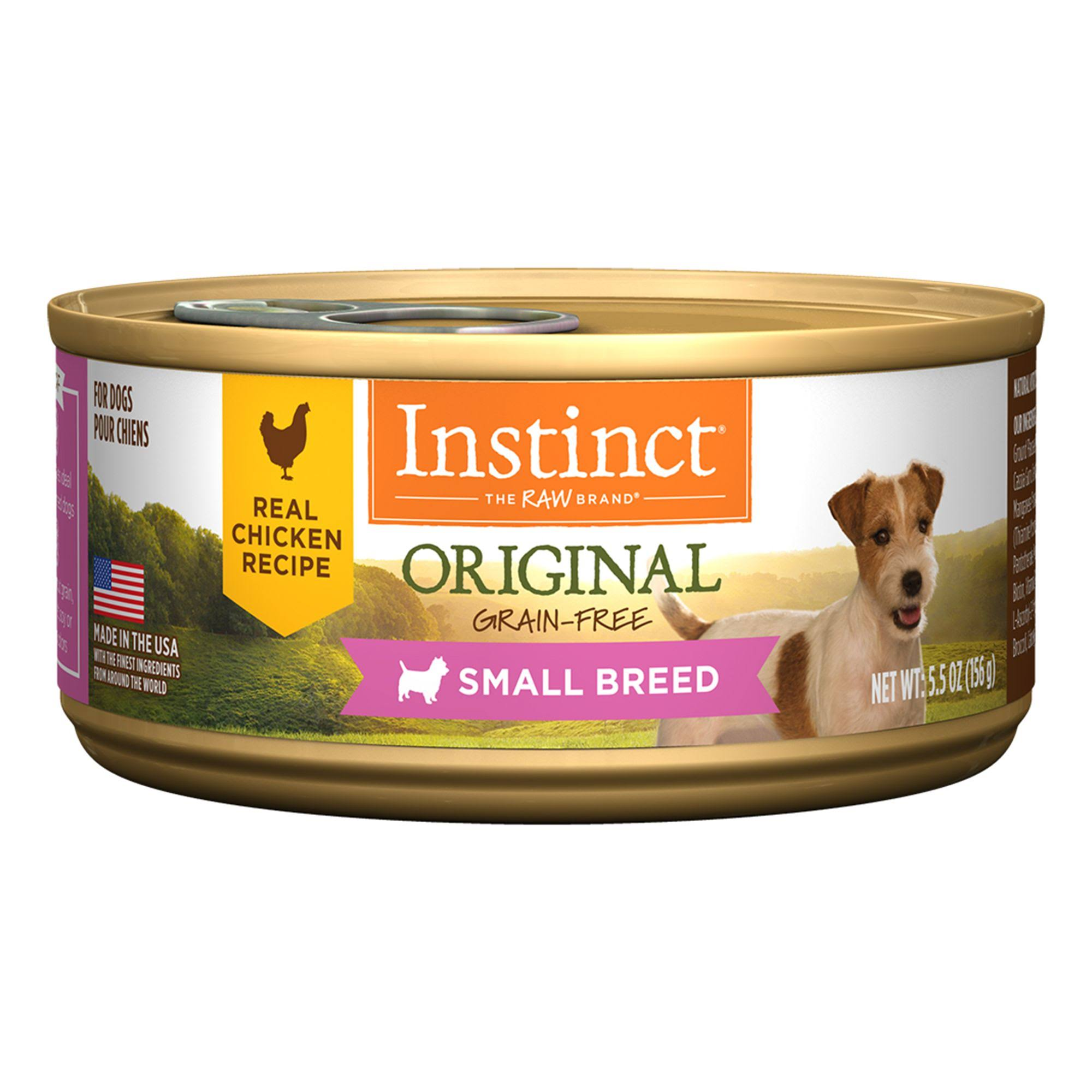 Nature's Variety Instinct Grain Free Small Breed Chicken Formula Dog Food - 5.5oz