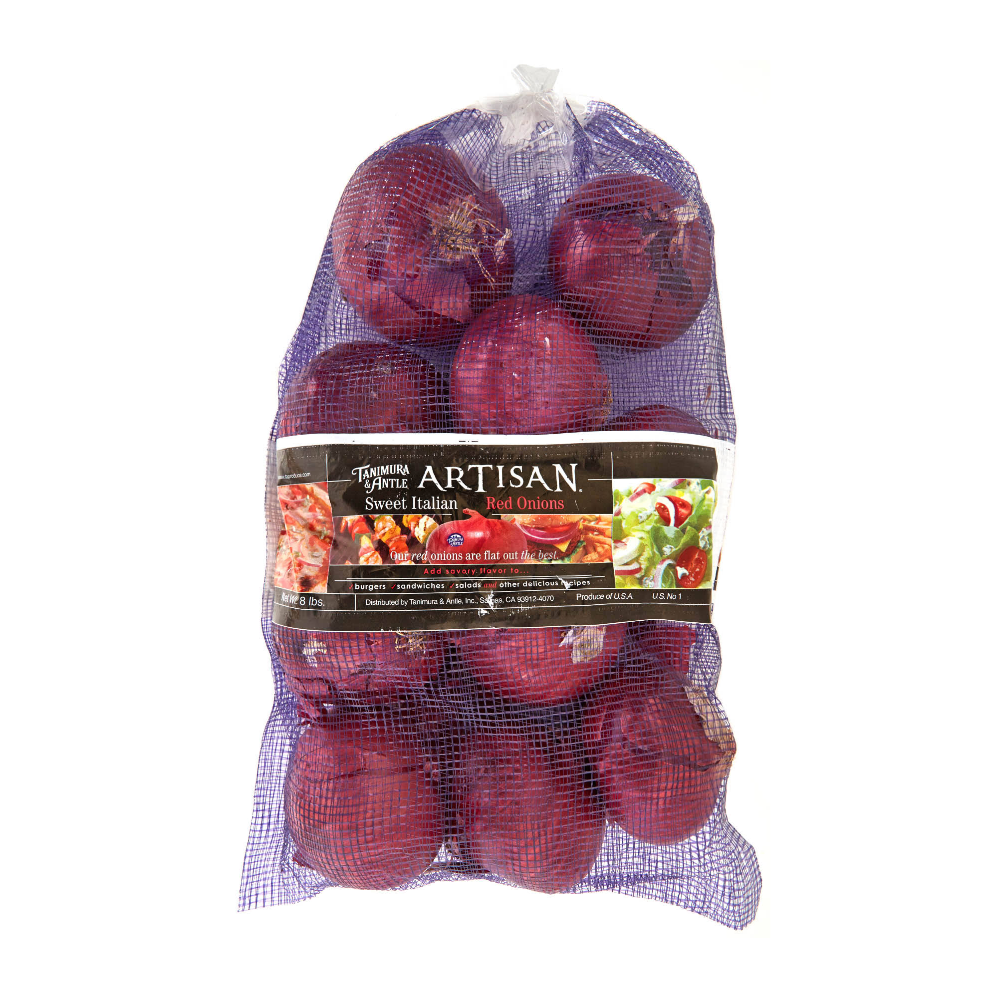 Tanimura and Antle Sweet Jumbo Red Onions - 8 lb bag