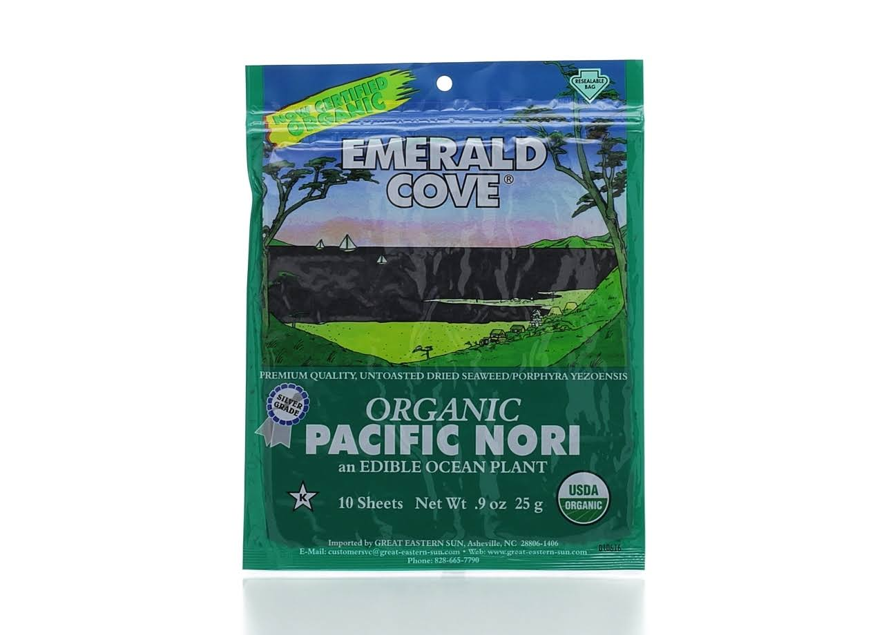 Emerald Cove Organic Pacific Nori Sheets - 10 sheets, 0.9 oz packet
