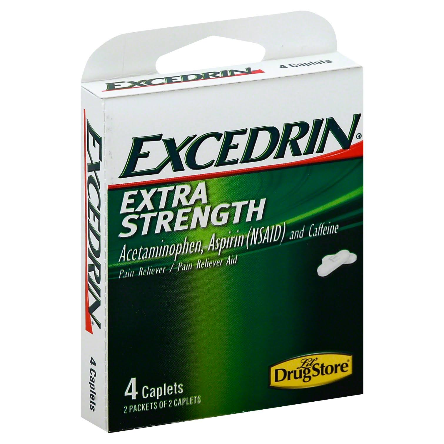 Lil Drug Store Excedrin Extra Strength Pain Reliever - 4ct