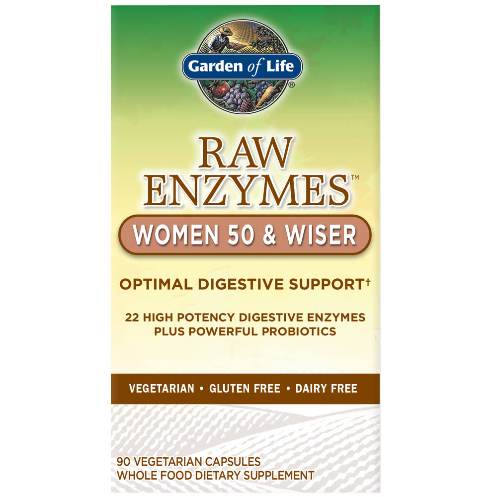 Garden of Life Raw Enzymes Women 50 & Wiser - 90 Capsules