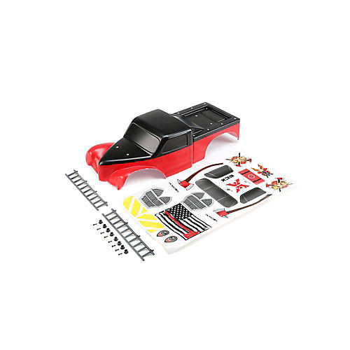 ECX Body with Ladders, Red/Black: 1/10 2WD Axe MT, ECX230042