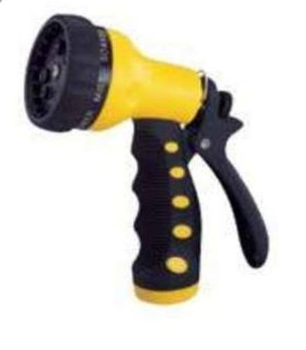 ToolBasix Garden Hose Nozzle - 9 Pattern, Yellow and Black