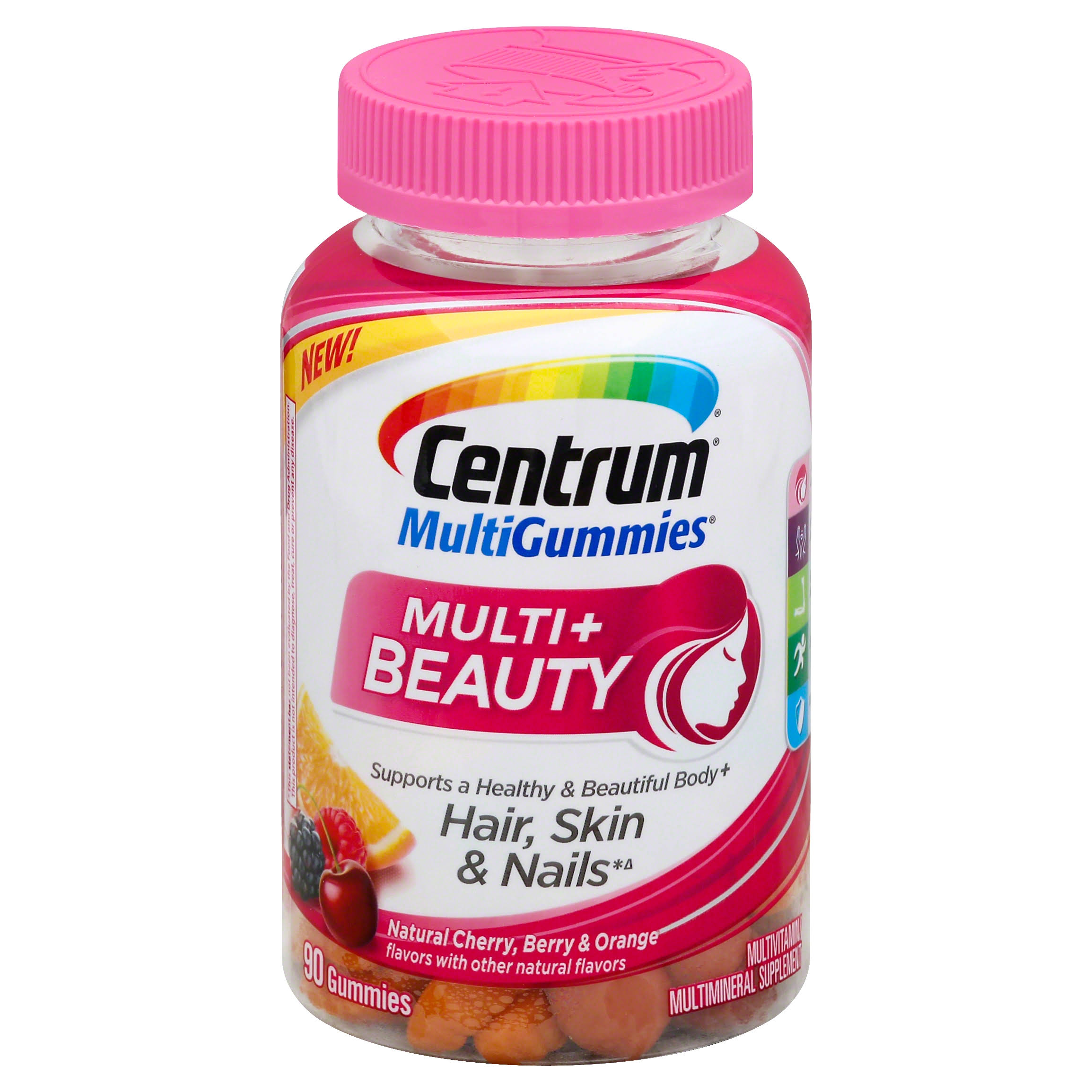 Centrum Multi Gummies Multi+ Beauty - Natural Cherry, Berry & Orange