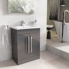 Ebay Bathroom Vanity With Sink by Newton Floor Standing Bathroom Vanity Unit Anthracite Grey Ceramic