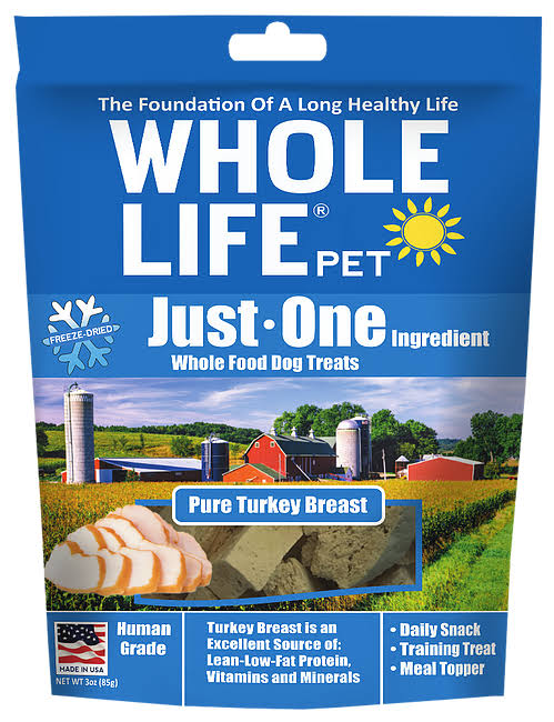 Whole Life Pet Single Ingredient USA Freeze Dried Venison Dog Treats - 2oz