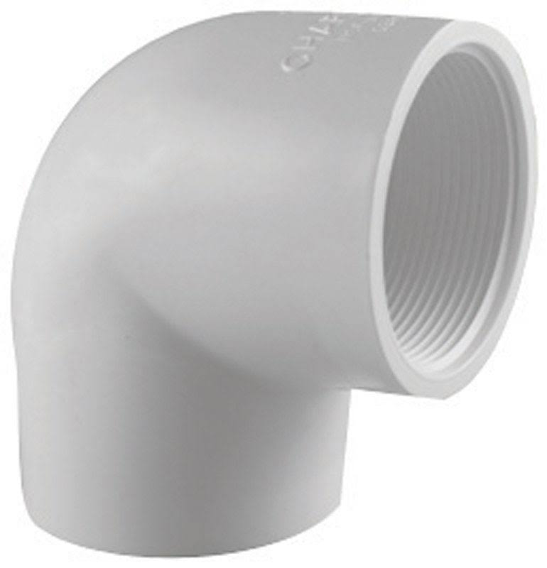 Charlotte Pipe & Foundry Pvc Elbow - 90 Degree, 1-1/2""