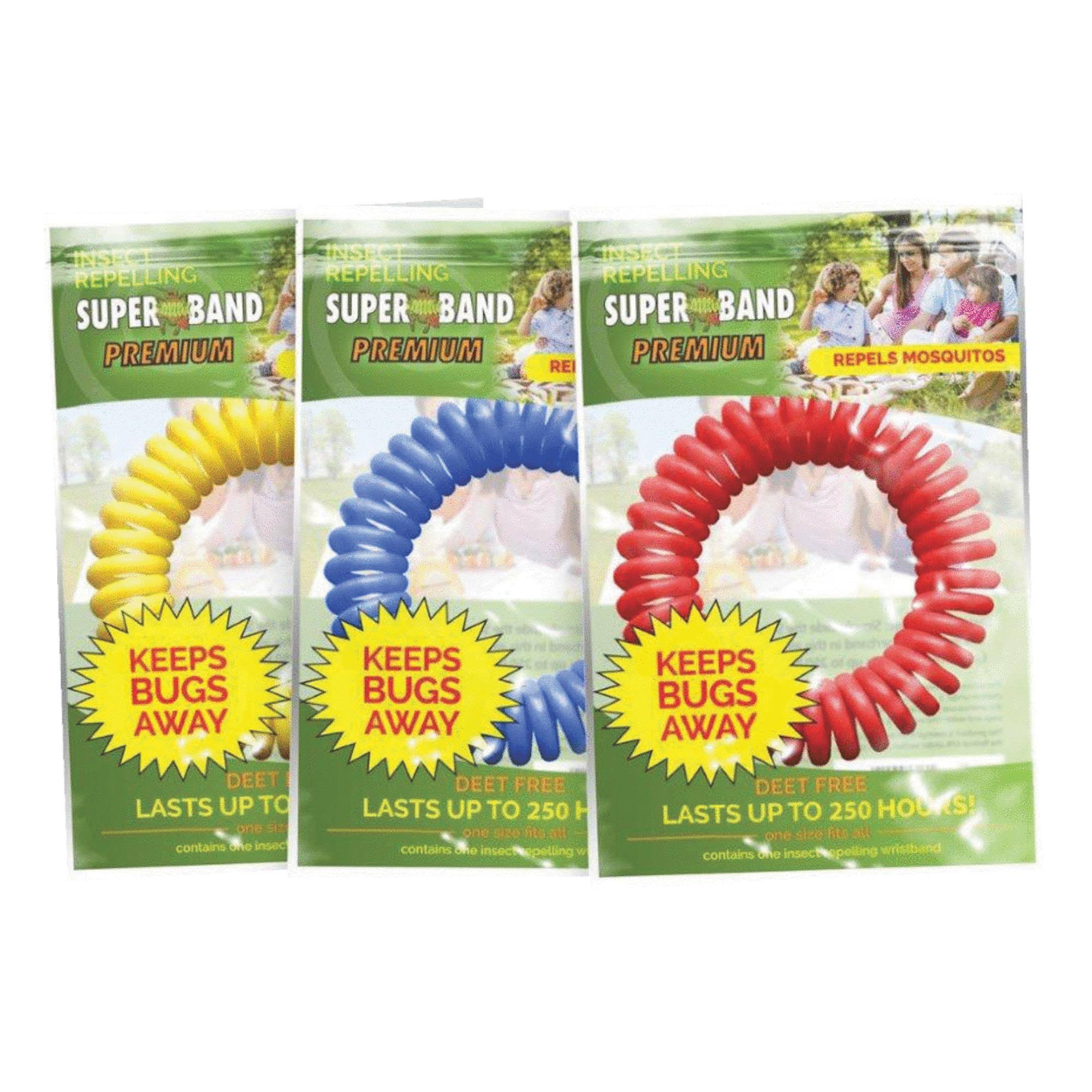 Super Band Premium Mosquito and Insect Repelling Bracelet - Assorted Colors