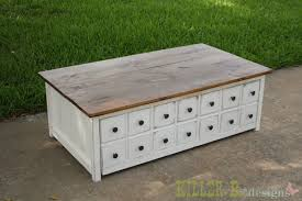 How To Make A Wooden Toy Chest by Ana White Apothecary Coffee Table With Toybox Trundle Diy Projects