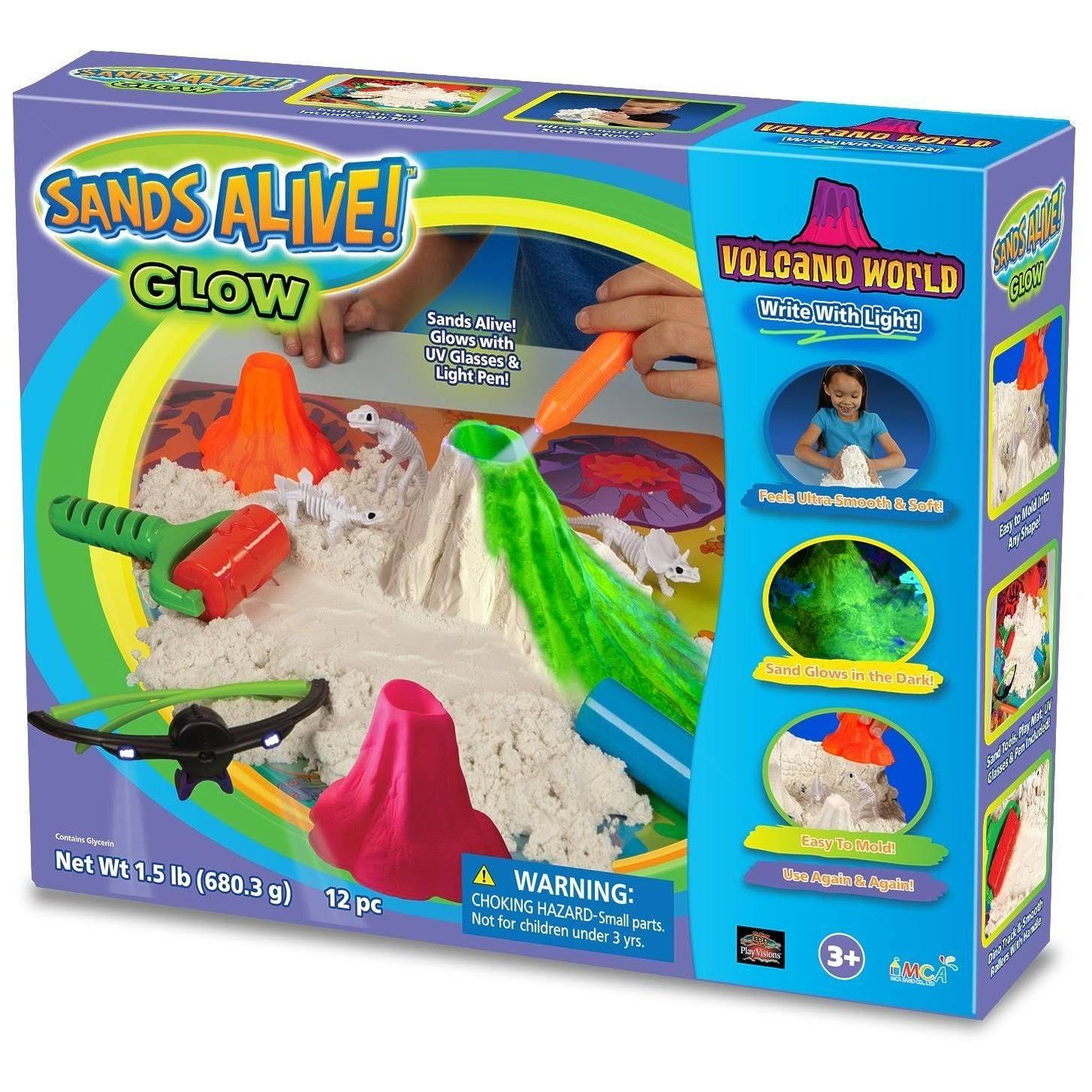 Play Sand Deluxe Glow in the Dark Set