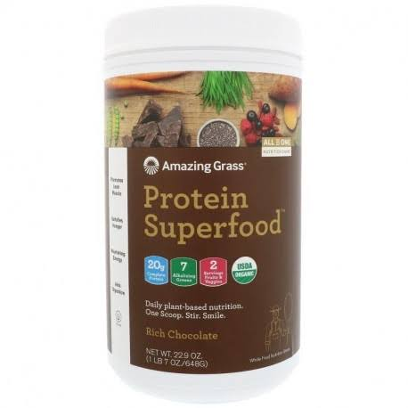 Amazing Grass Organic Protein Superfood Powder - Rich Chocolate, 22.9oz