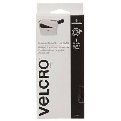 "Velcro Usa Industrial Strength Tape - Black, 1"" x 3'"