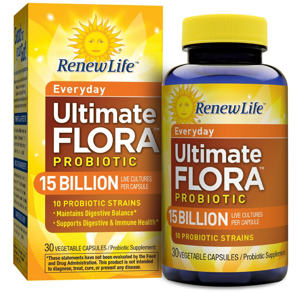 Renew Life Ultimate Flora Adult Formula - 30 Vegetable Capsules
