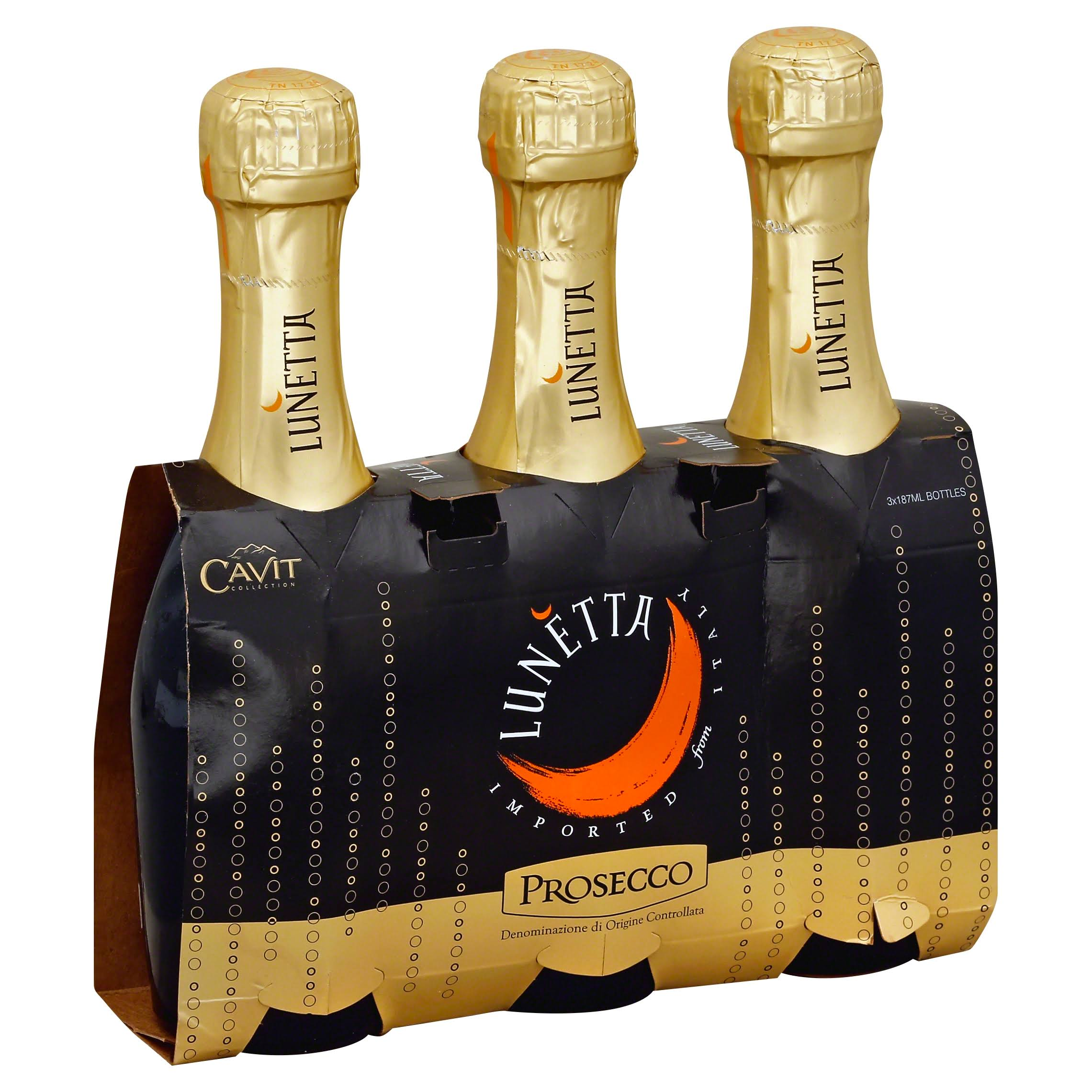 Lunetta Cavit Collection Prosecco - 3 pack, 187 ml bottles