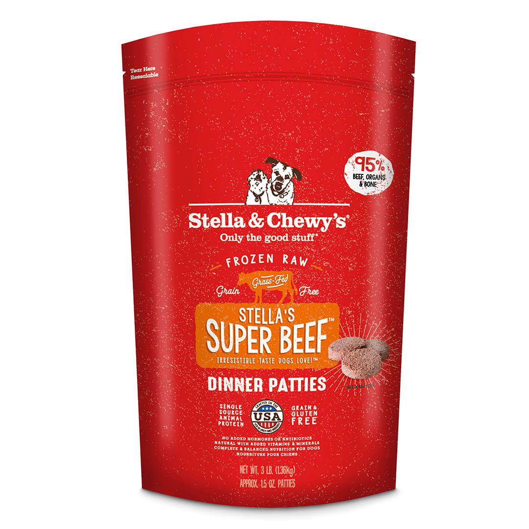 Stella and Chewy's Frozen Stella's Super Beef Dinner - Beef, 12lb