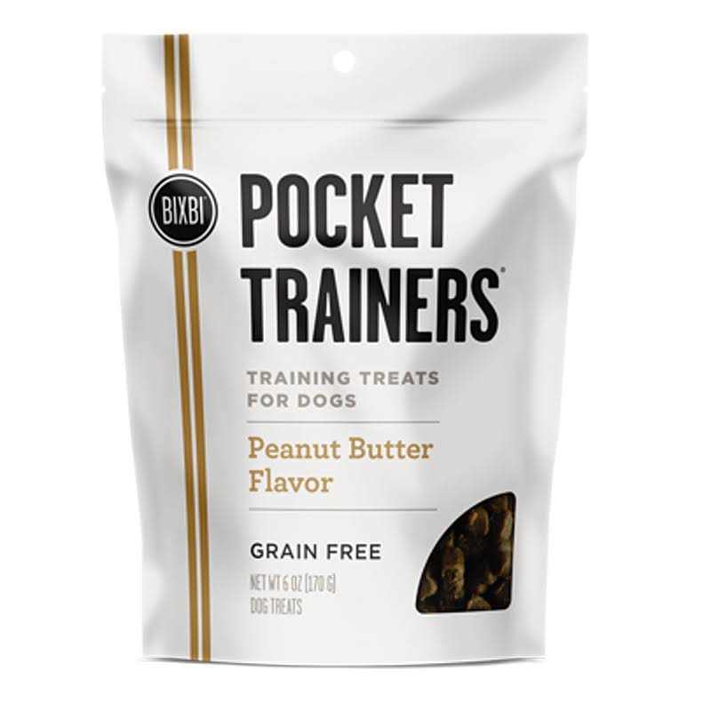 Bixbi Pocket Trainers Dog Treats Peanut Butter (6 oz)