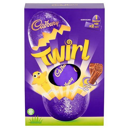 Cadbury Twirl Large Easter Egg Chocolate - 262g