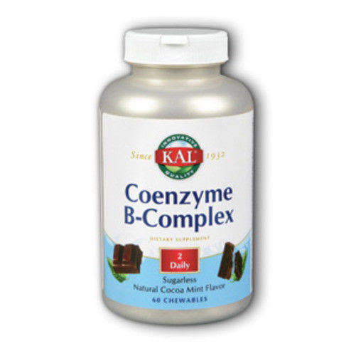 Kal Coenzyme B-Complex - Cocoa Mint, 60ct